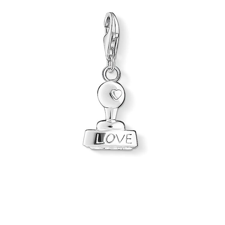 STERLING SILVER C/CLUB LOVE STAMP CHARM
