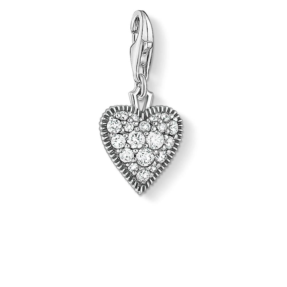C/Club Oxidised Cz Heart Charm