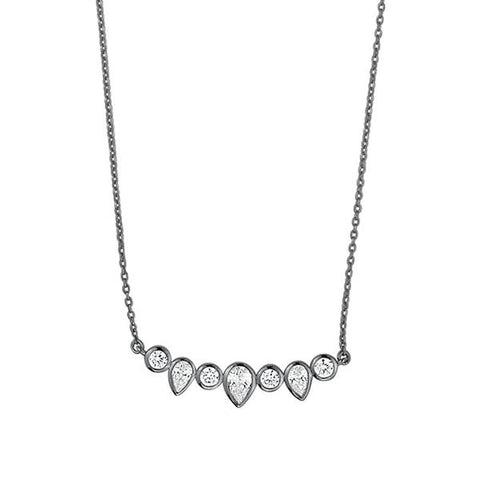 STERLING SILVER KAELYN OX CRYSTAL NECKLACE