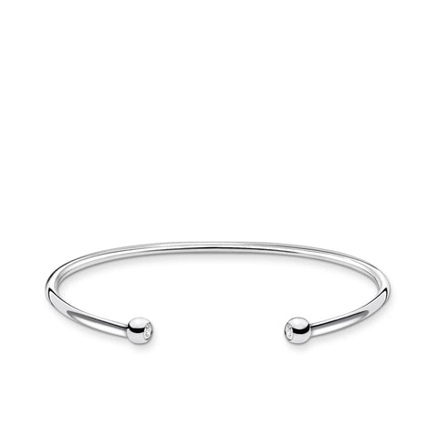 STERLING SILVER CHARMING COLLECTION TWIST CUFF BANGLE 15.5CM