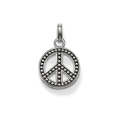 STERLING SILVER PEACE OXIDISED STUD PENDANT
