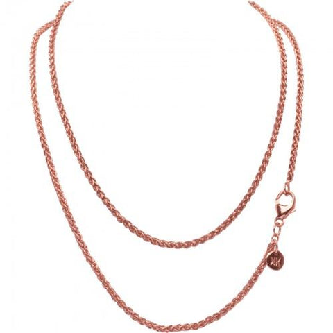 ROSE GOLD PLATED WHEAT NECKLET 80CM