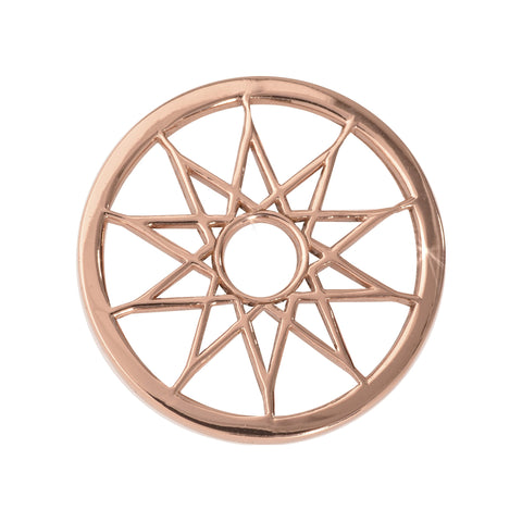 DREAMCATCHER ROSE GOLD PLATE 23MM COIN