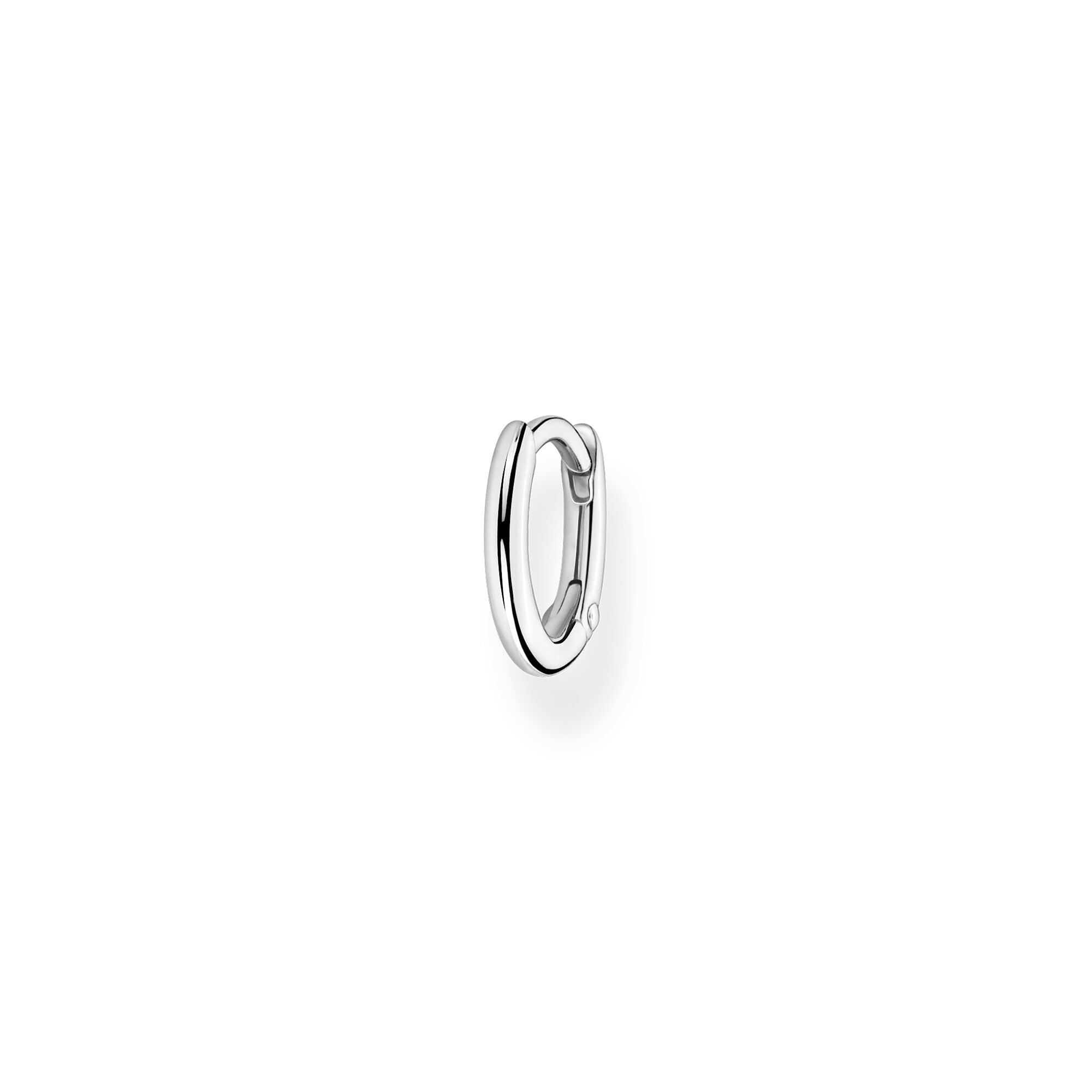 STERLING SILVER CHARMING COLLECTION 12MM HOOP EARRING SINGLE