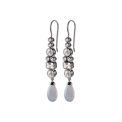 STERLING SILVER DARIN OX GREY EARRINGS