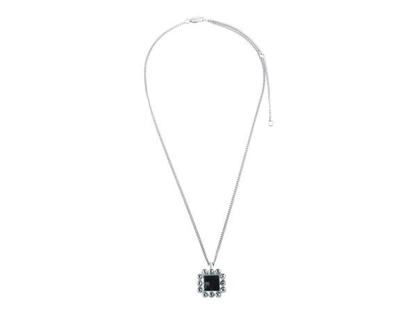 DIRIA SHINY SILVER BLACK NECKLACE