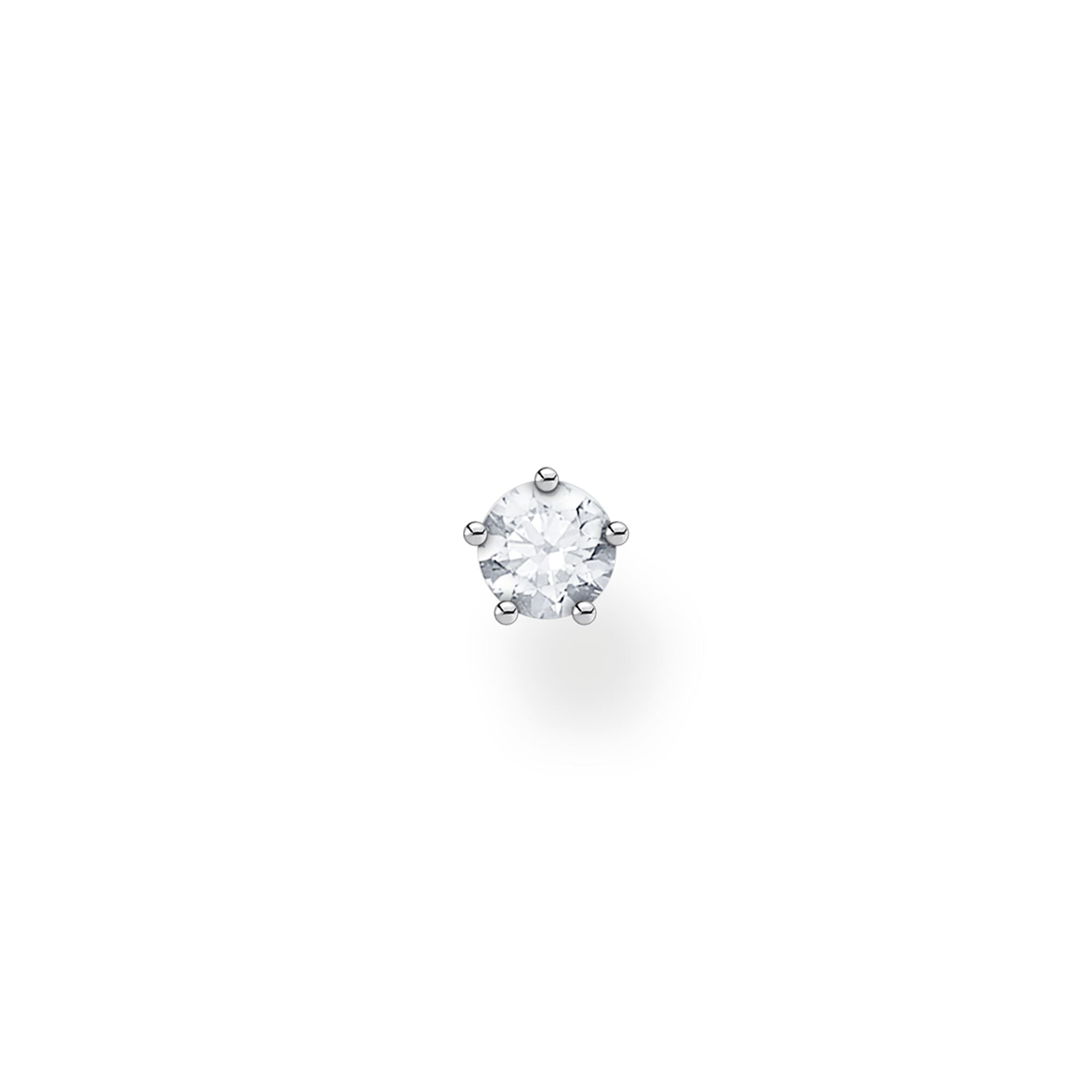 STERLING SILVER CHARMING COLLECTION CZ STUD EARRING SINGLE