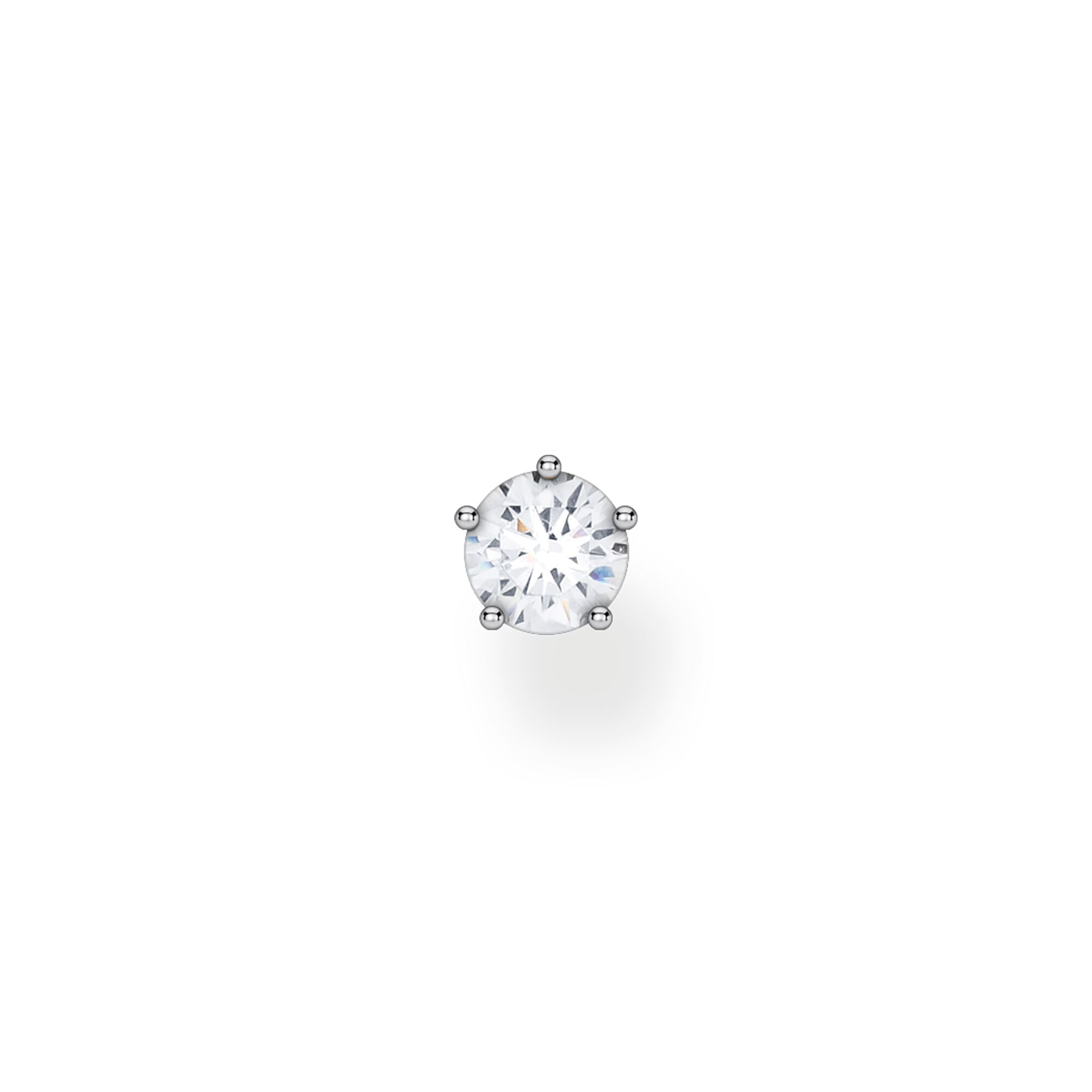STERLING SILVER CHARMING COLLECTION LARGE CZ STUD EARRING SINGLE