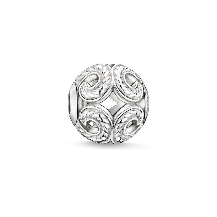 STERLING SILVER WAVE KARMA BEAD