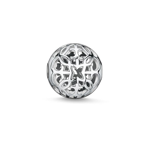STERLING SILVER ARABESQUE KARMA BEAD
