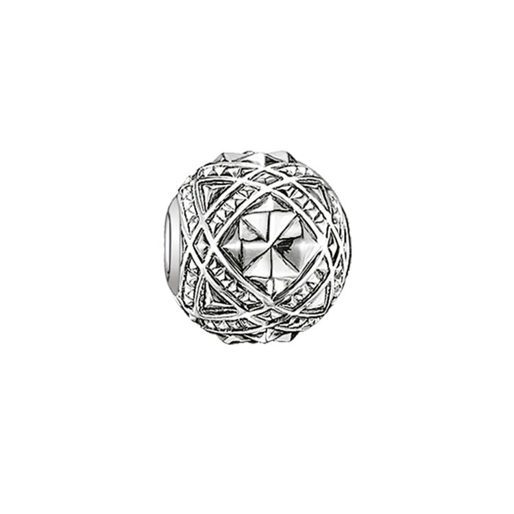 STERLING SILVER ART DECO STUDS KARMA BEAD