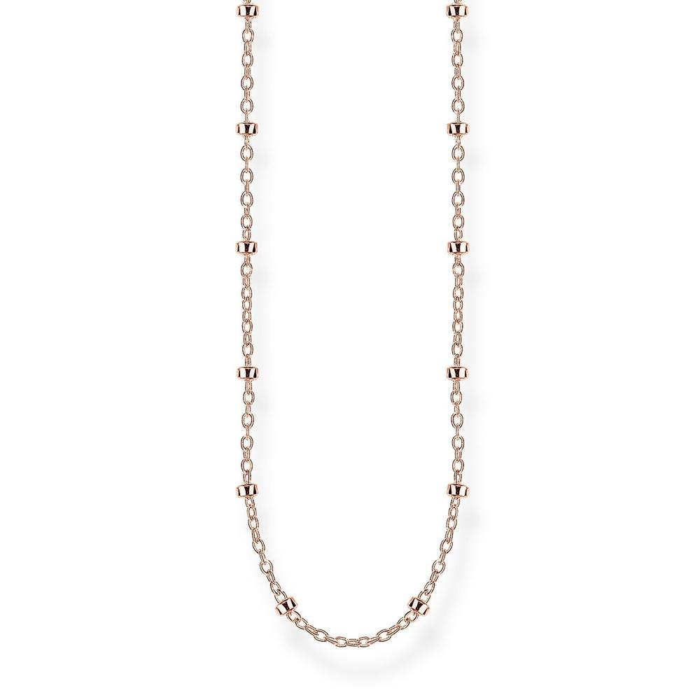 STERLING SILVER ROSE GOLD PLATED FINE BALL CHAIN NECKLACE 60CM