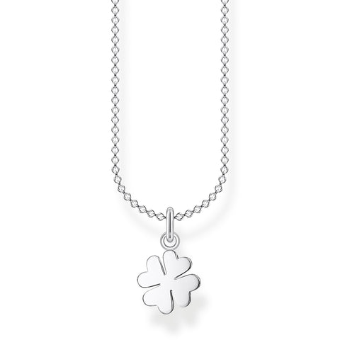 STERLING SILVER CHARMING COLLECTION CLOVER NECKLACE 38-45CM