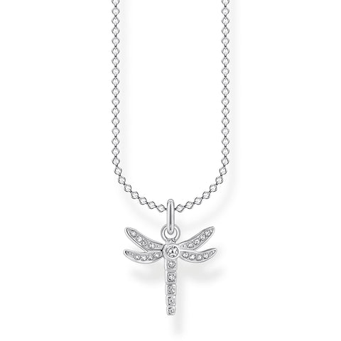 STERLING SILVER CHARMING COLLECTION CZ PAVE CROSS NECKLACE 38-45CM