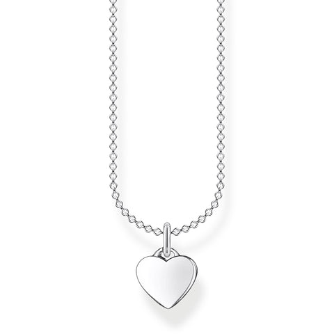 STERLING SILVER CHARMING COLLECTION SMALL HEART NECKLACE 38-45CM