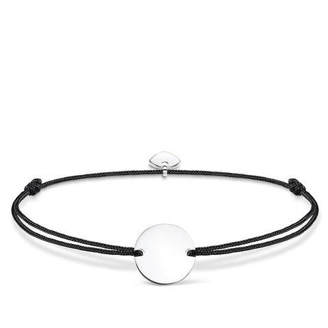 LITTLE SECRETS BLACK ENGRAVABLE DISC BRACELET