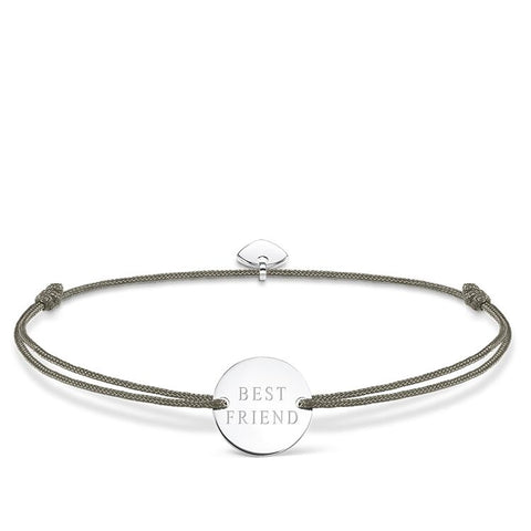 LITTLE SECRETS GREY 'BEST FRIEND' BRACELET