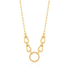 CHAIN REACTION HORSESHOE LINK NECKLACE