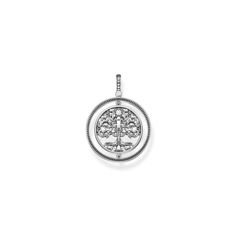 STERLING SILVER TREE OF LOVE ROTATING PENDANT