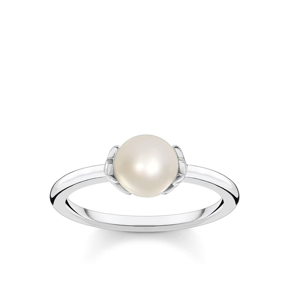 STERLING SILVER KINGDOM FRESHWATER PEARL RING SIZE 54