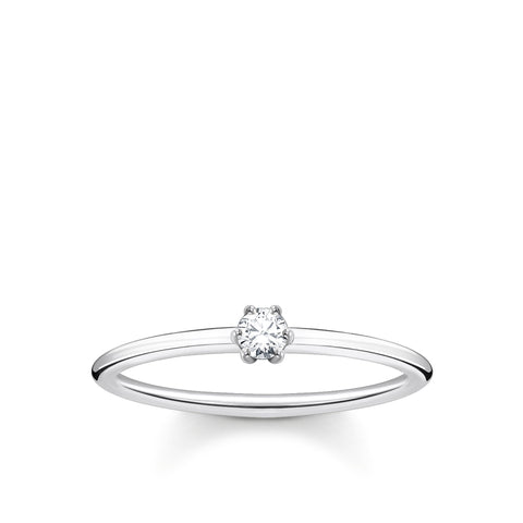 CHARMING COLLECTION FINE CLAW SET CZ RING