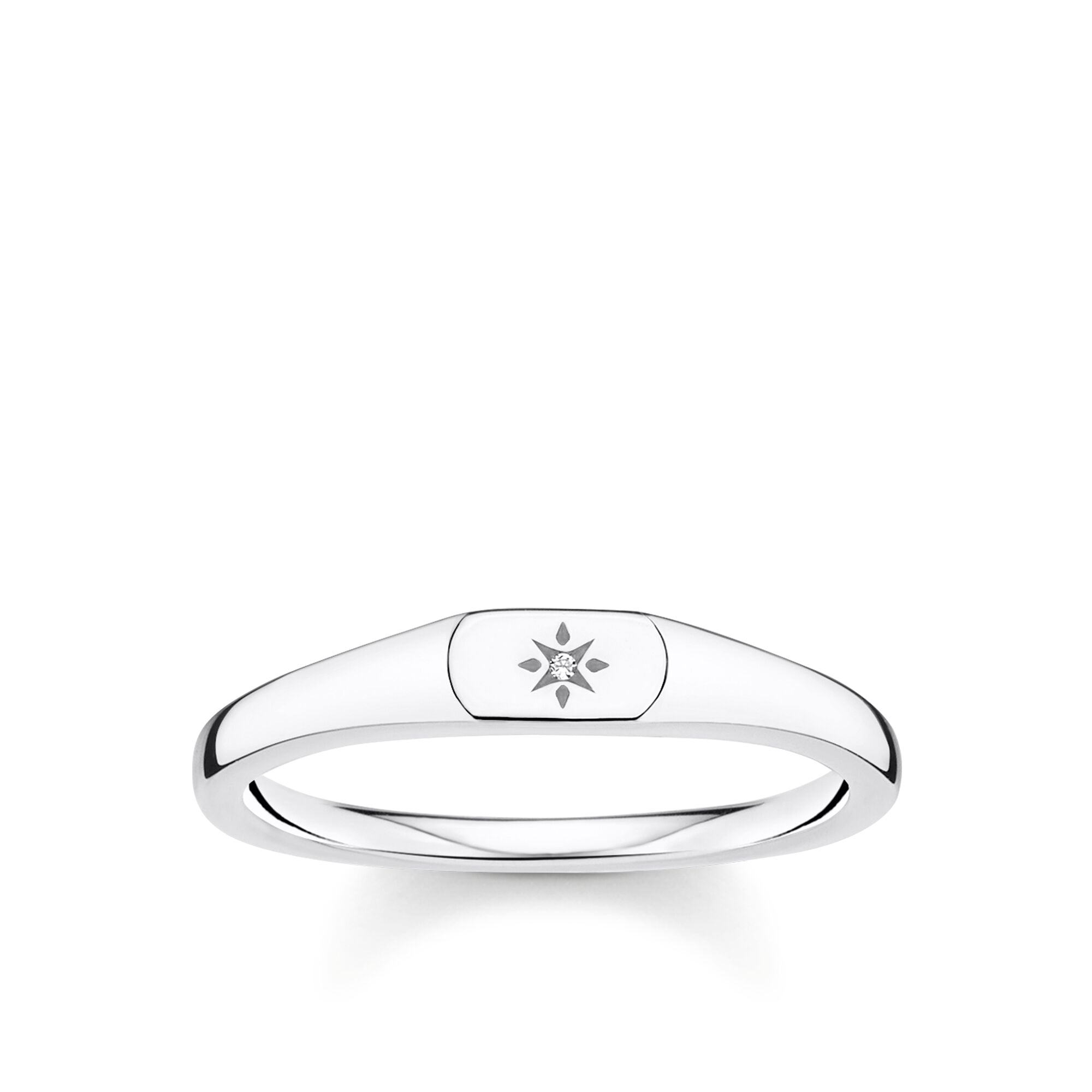 STERLING SILVER CHARMING COLLECTION MINI CZ SIGNET RING