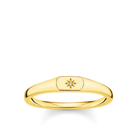 CHARMING COLLECTION MINI CZ SIGNET RING
