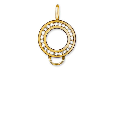 STERLING SILVER C/CLUB YELLOW GOLD PLATED CZ CARRIER