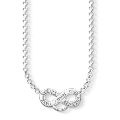 STERLING SILVER C/CLUB ETERNITY NECKLACE 38-44CM