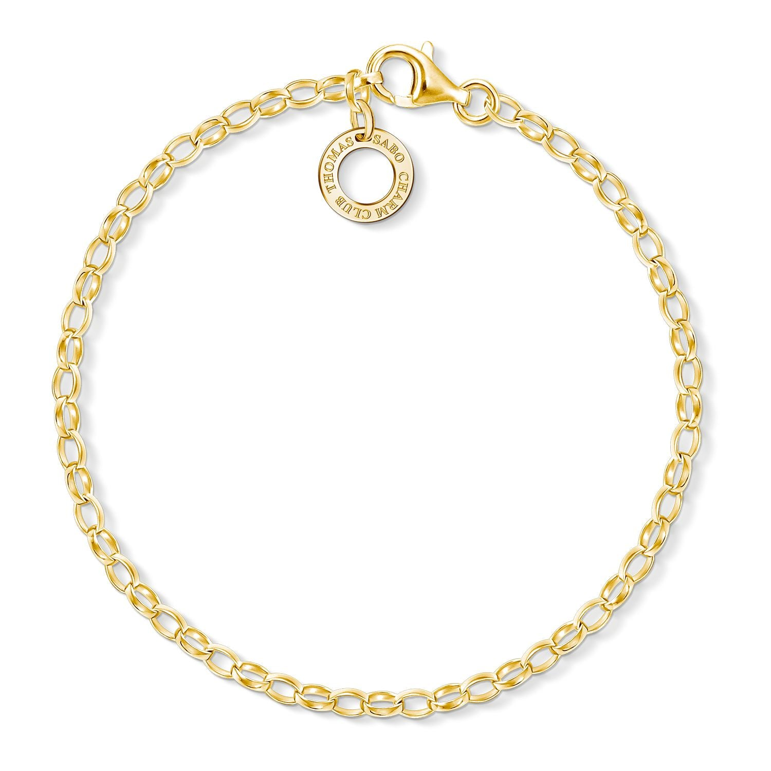 STERLING SILVER YELLOW GOLD PLATED C/CLUB BELCHER BRACLET