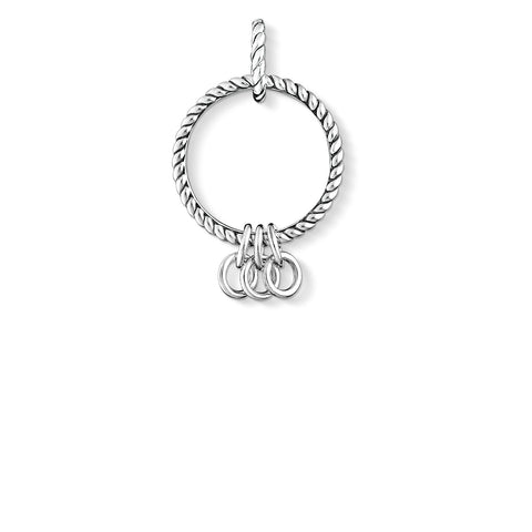 C/CLUB STERLING SILVER REBEL MULTI CHARM CARRIER