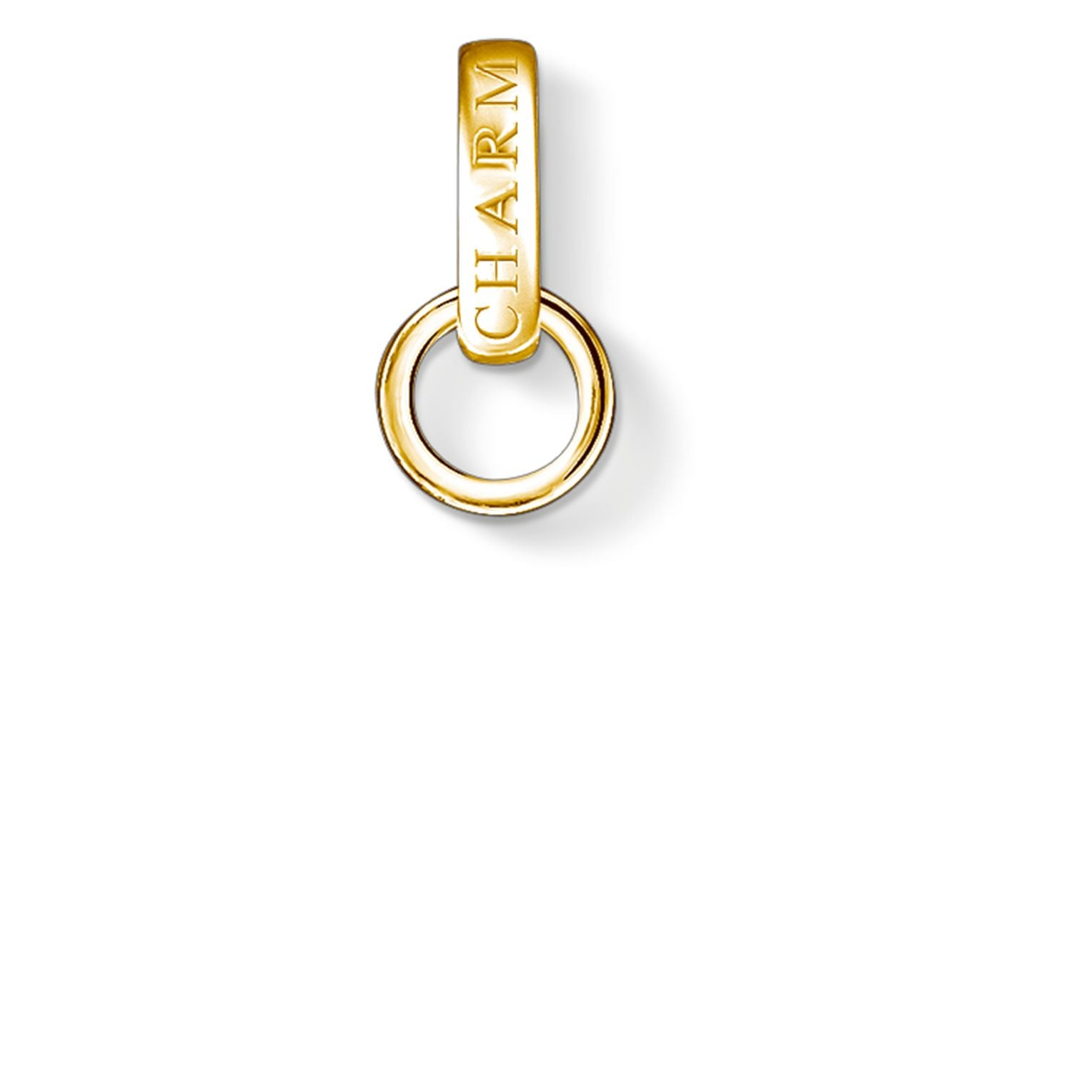 C/CLUB STERLING SILVER YELLOW GOLD PLATED CHARM CARRIER