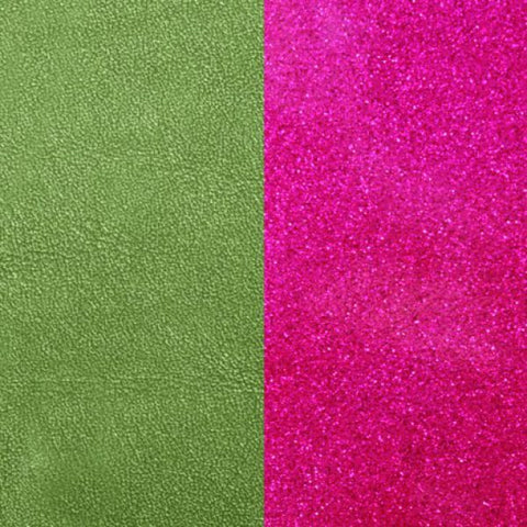 ALOE/FUCHSIA GLITTER LEATHER 25MM