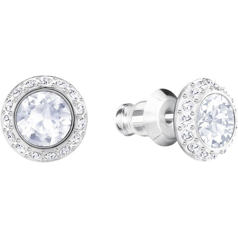 Angelic Pierced Earrings - Rhodium Plating