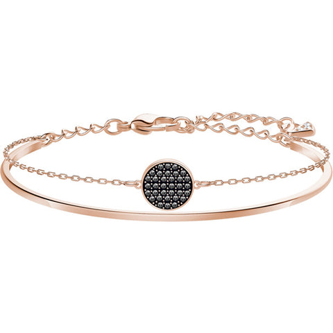 GINGER BANGLE GREY - ROSE GOLD PLATING