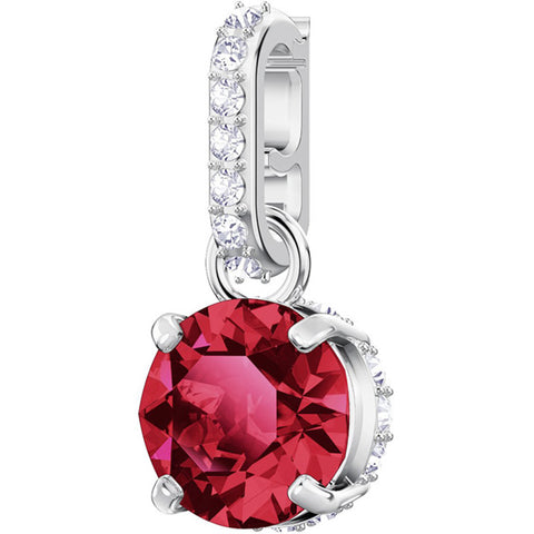 REMIX COLLECTION JANUARY CHARM, RED, RHODIUM PLATING