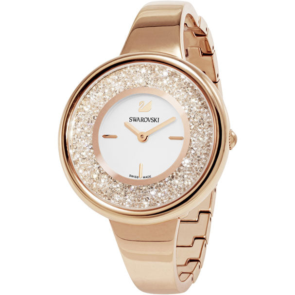 CRYSTALLINE PURE WATCH, METAL BRACELET - ROSE-GOLD TONE