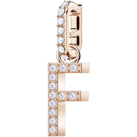 REMIX COLLECTION F CHARM - ROSE-GOLD PLATING