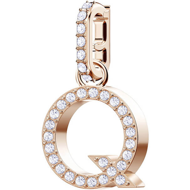 REMIX COLLECTION Q CHARM - ROSE-GOLD PLATING