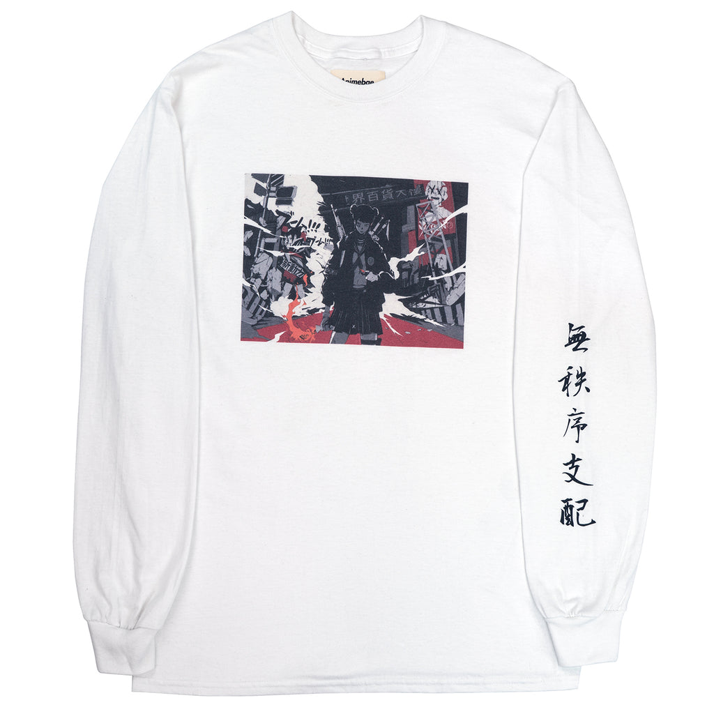 Anarchy Will Reign L/S Tee | White