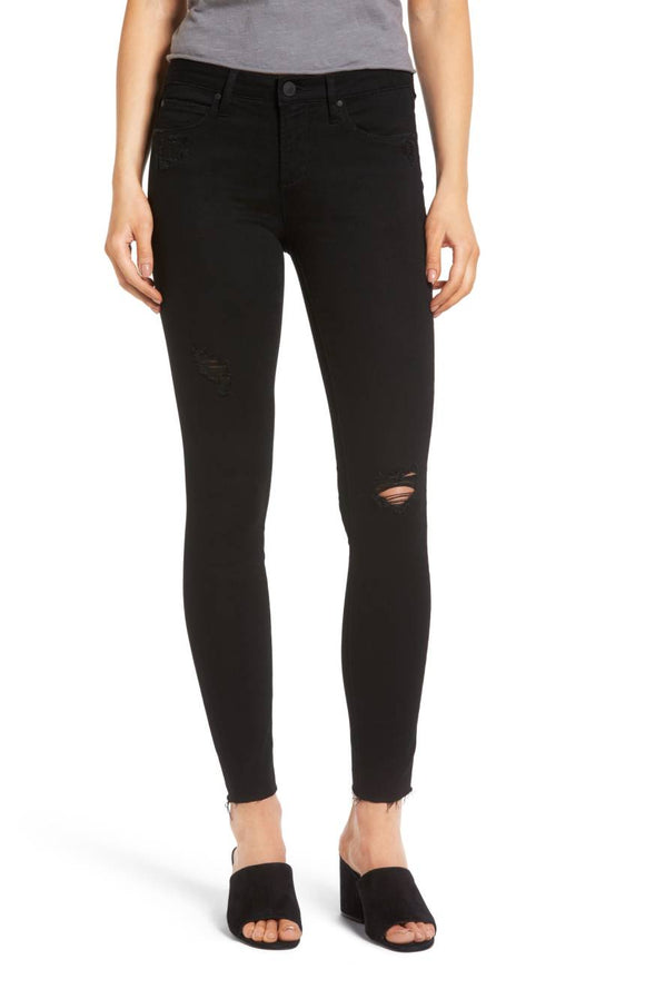 Sarah Skinny Jeans - Black - Women's Bottom Wear - Jolie Folie
