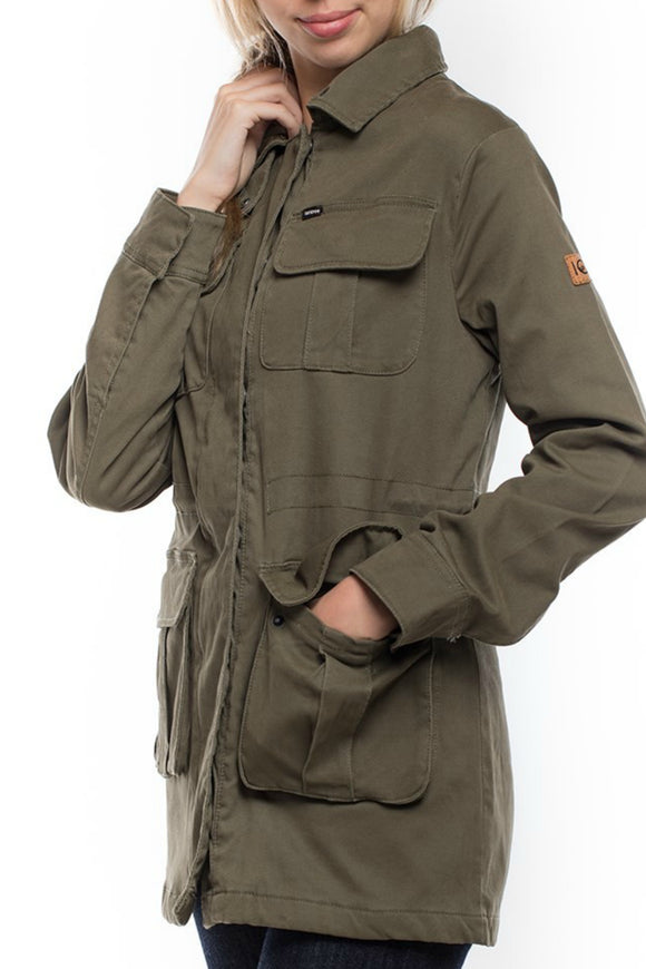 Field Jacket- Outerwear for Women -Army Colour Jacket- Jolie Folie