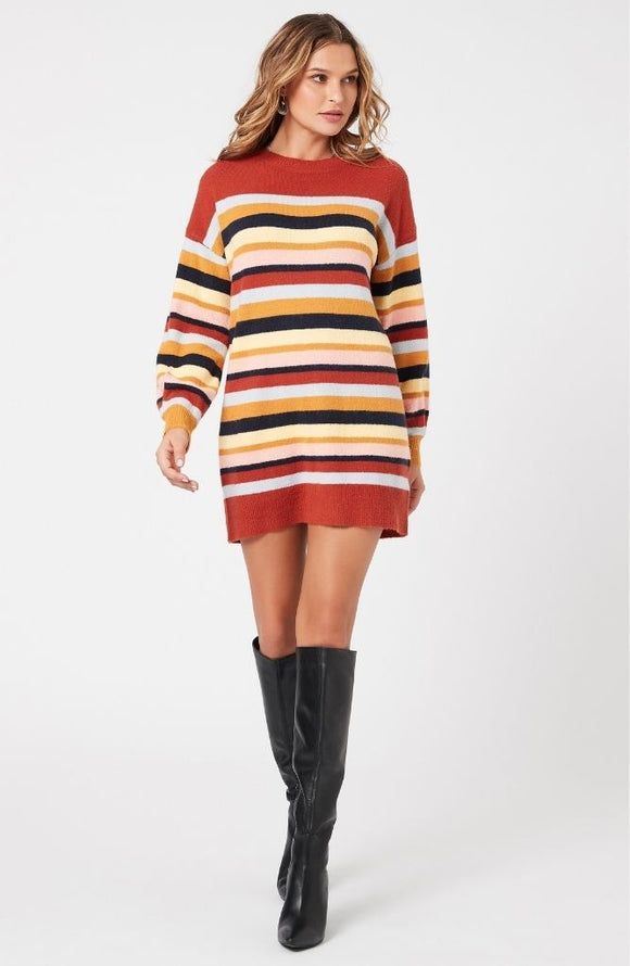 knit stripe dress by minkpink