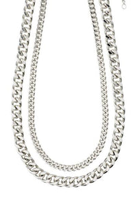 Water 2-in-1 Necklace Set - Silver | Pilgrim