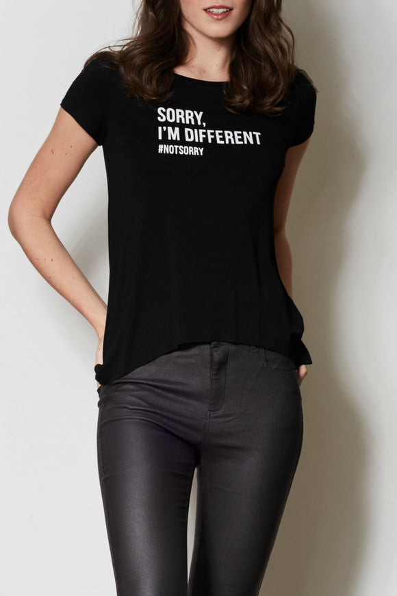 Sorry I'm Different - Women's Casual Tshirt - By pink martini - Jolie Folie