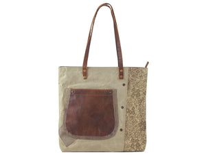 Sunsa Vintage Shopper shoulder bag - Travelling & Every Day Wear - Women's Bag By Sunsa - Jolie Folie