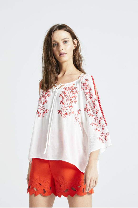 Agnes Cold Shoulder Top - Angel Eye