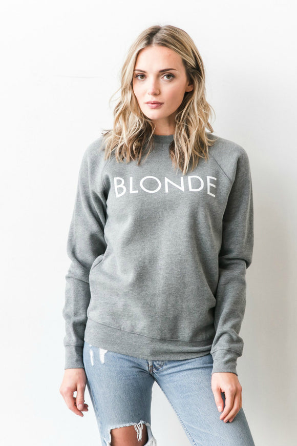 Blonde Sweater by Brunette The Label. Jolie Folie