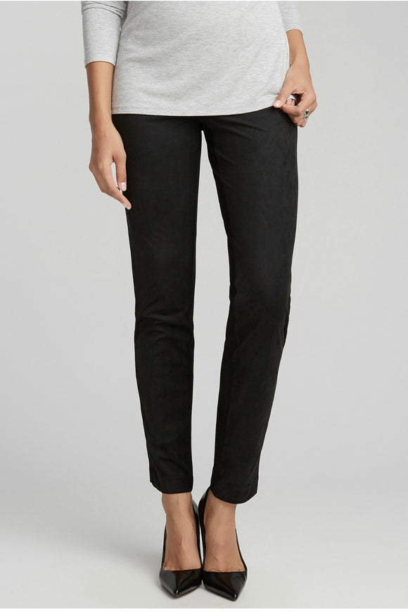 Jersey and Suede Slip-on Pant
