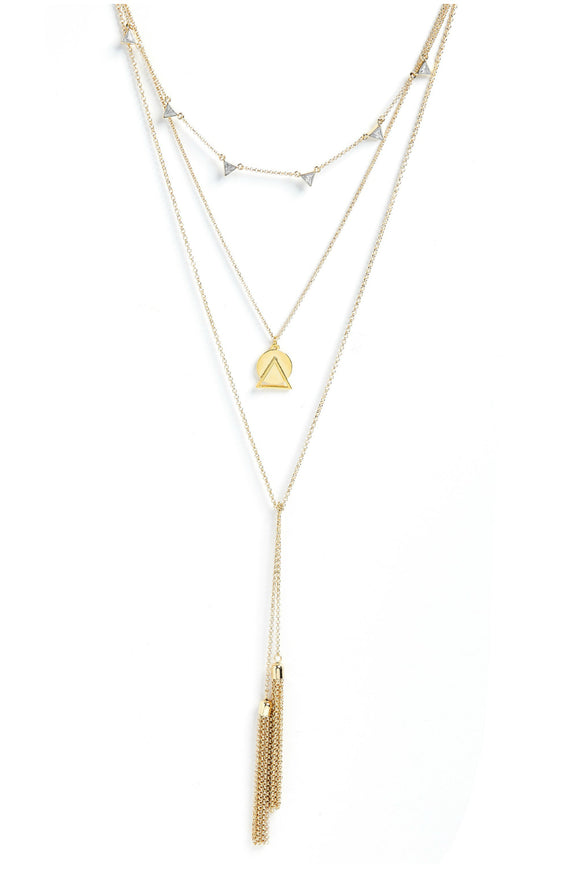 Cirque Convertible Necklace In Gold - Foxy Originals